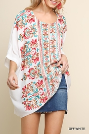 Umgee USA Multicolor Embroidered Top - Product Mini Image