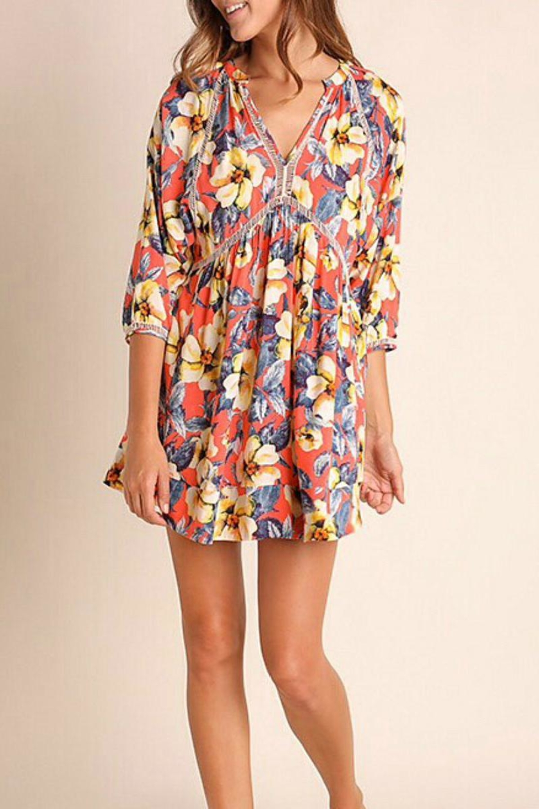 Umgee USA Multicolor Floral Dress - Main Image