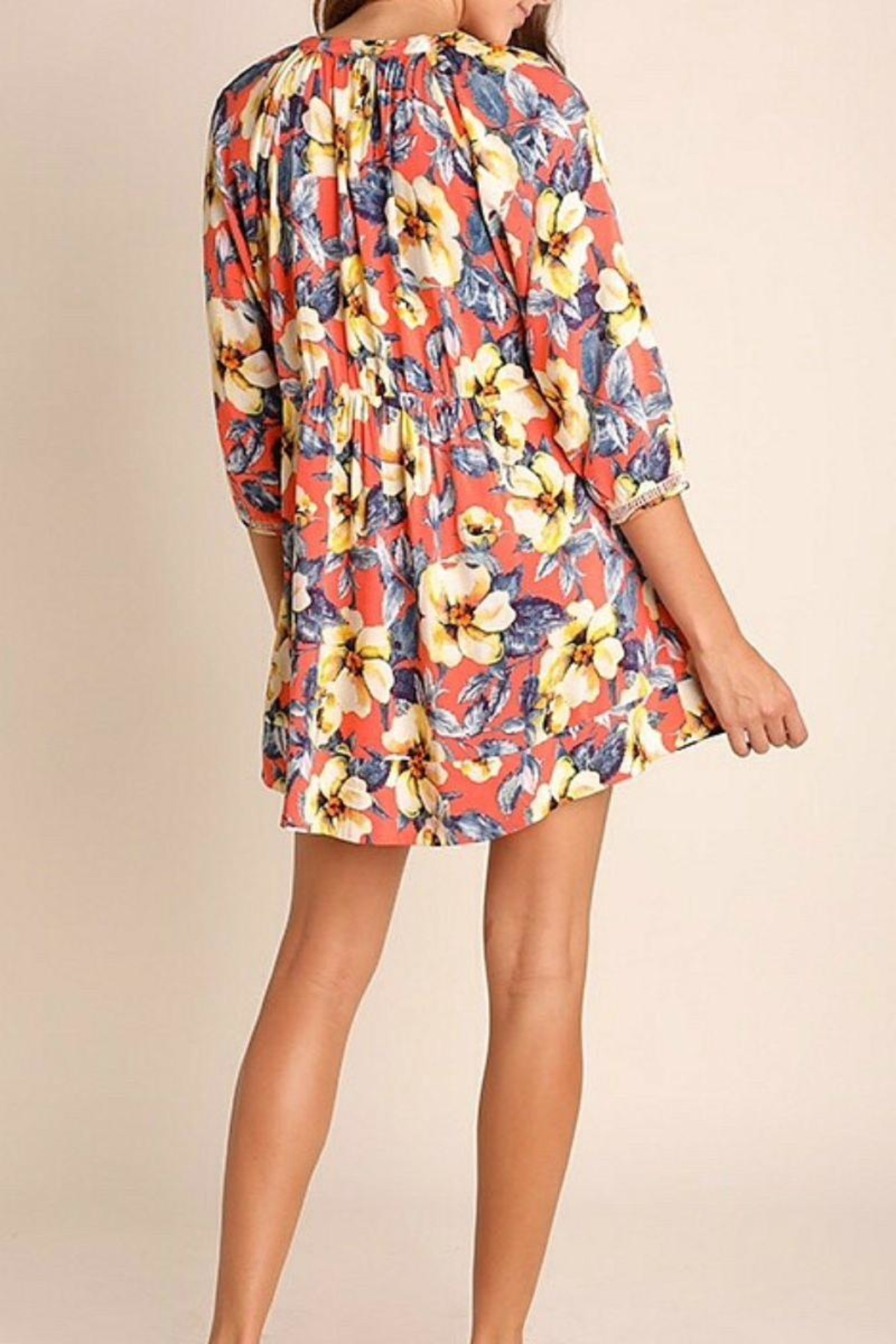 Umgee USA Multicolor Floral Dress - Front Full Image