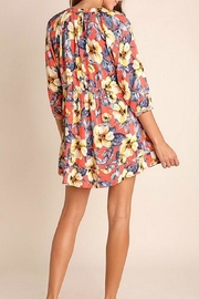 Umgee USA Multicolor Floral Dress - Front full body