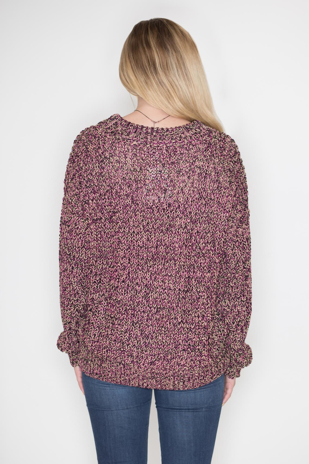 Umgee USA Multicolor Lurex Sweater - Side Cropped Image