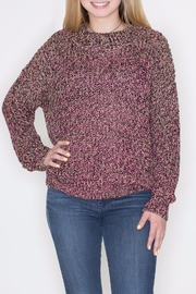 Umgee USA Multicolor Lurex Sweater - Front cropped