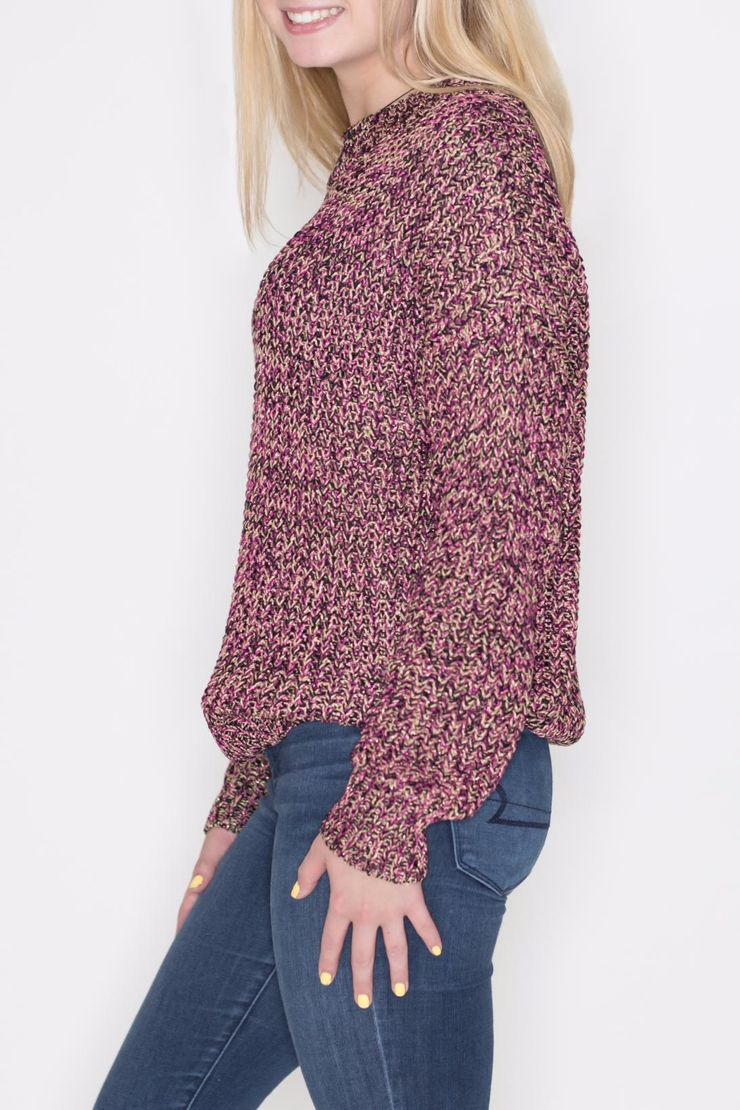 Umgee USA Multicolor Lurex Sweater - Front Full Image