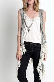 Umgee USA Multicolored Fringe Vest - Product Mini Image