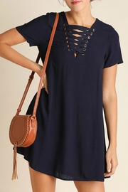 Umgee USA Navy Tie Dress - Product Mini Image