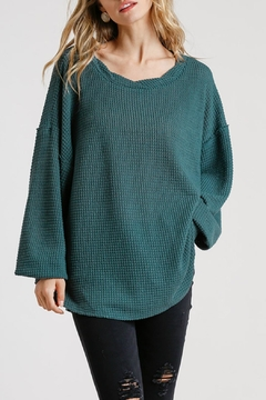 Umgee USA Nola Waffle-Knit Top - Product List Image