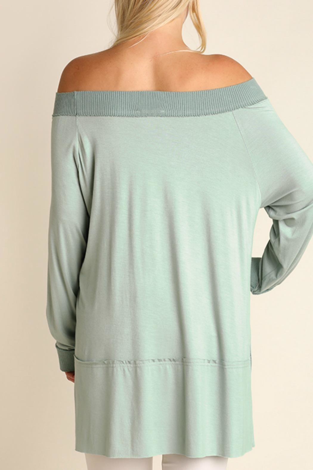 Umgee USA Off the Shoulder Classy Top - Back Cropped Image