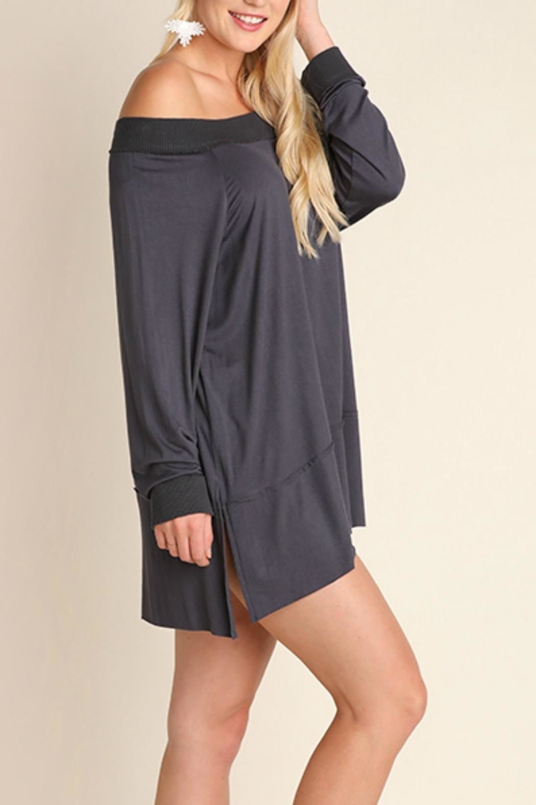Umgee USA Off the Shoulder Classy Top - Front Cropped Image