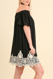 Umgee USA Off the Shoulder Crochet Dress - Front full body