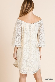 Umgee USA Off Shoulder Floral Lace Dress - Front full body
