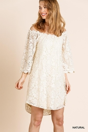 Umgee USA Off Shoulder Floral Lace Dress - Product Mini Image