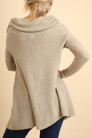 Umgee USA Off Shoulder Sleeve Sweater - Front full body