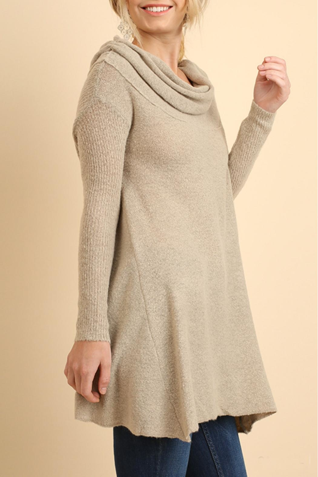 Umgee USA Off Shoulder Sleeve Sweater - Main Image