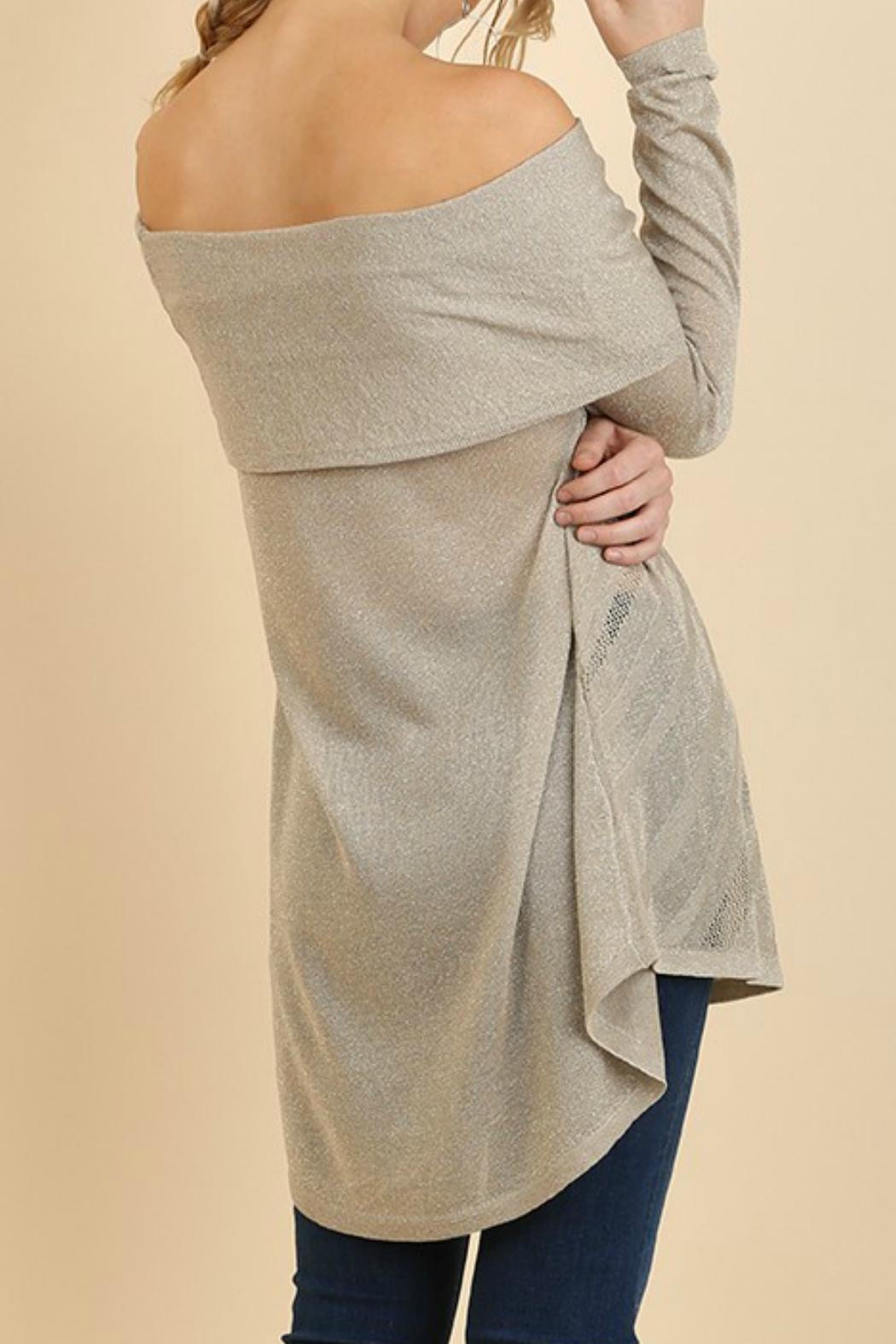 Umgee USA Off Shoulder Sweater - Front Full Image