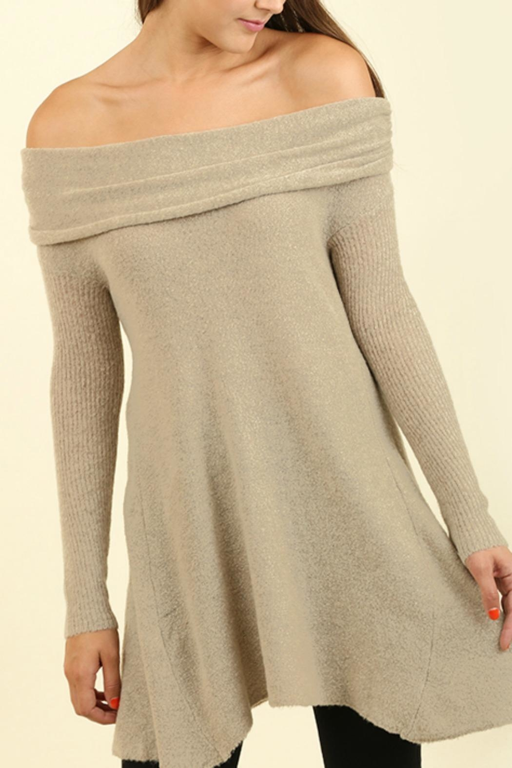 Umgee USA Off the Shoulder Sweater - Main Image
