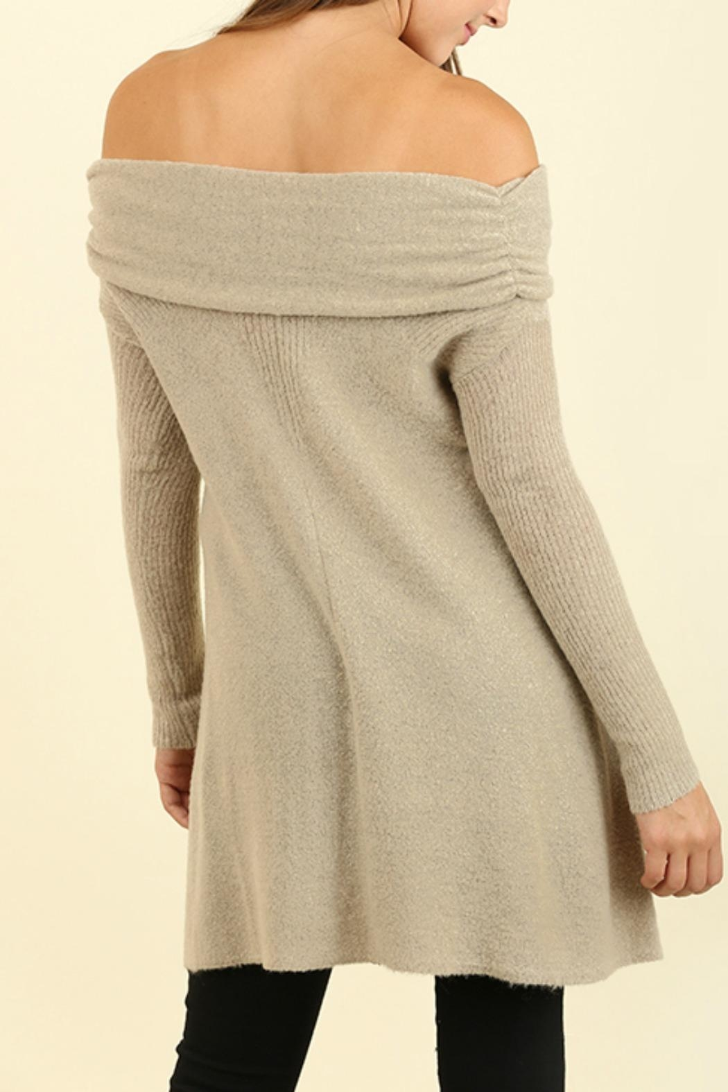 Umgee USA Off the Shoulder Sweater - Side Cropped Image
