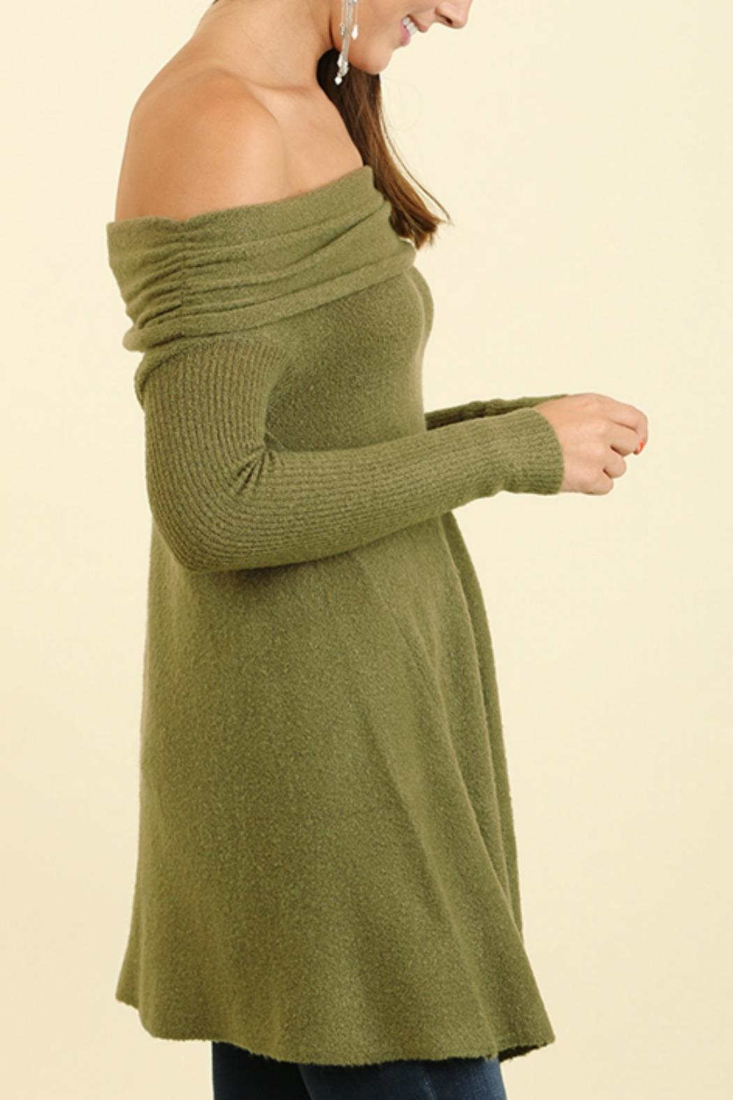 Umgee USA Off the Shoulder Sweater - Front Full Image
