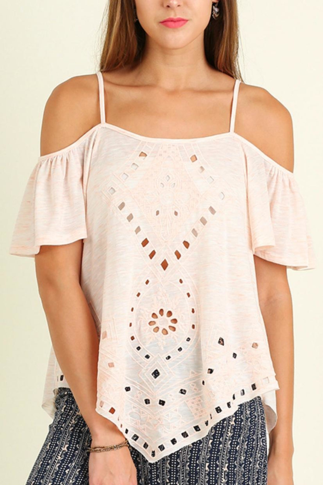 Umgee USA Off Shoulder Top - Front Cropped Image