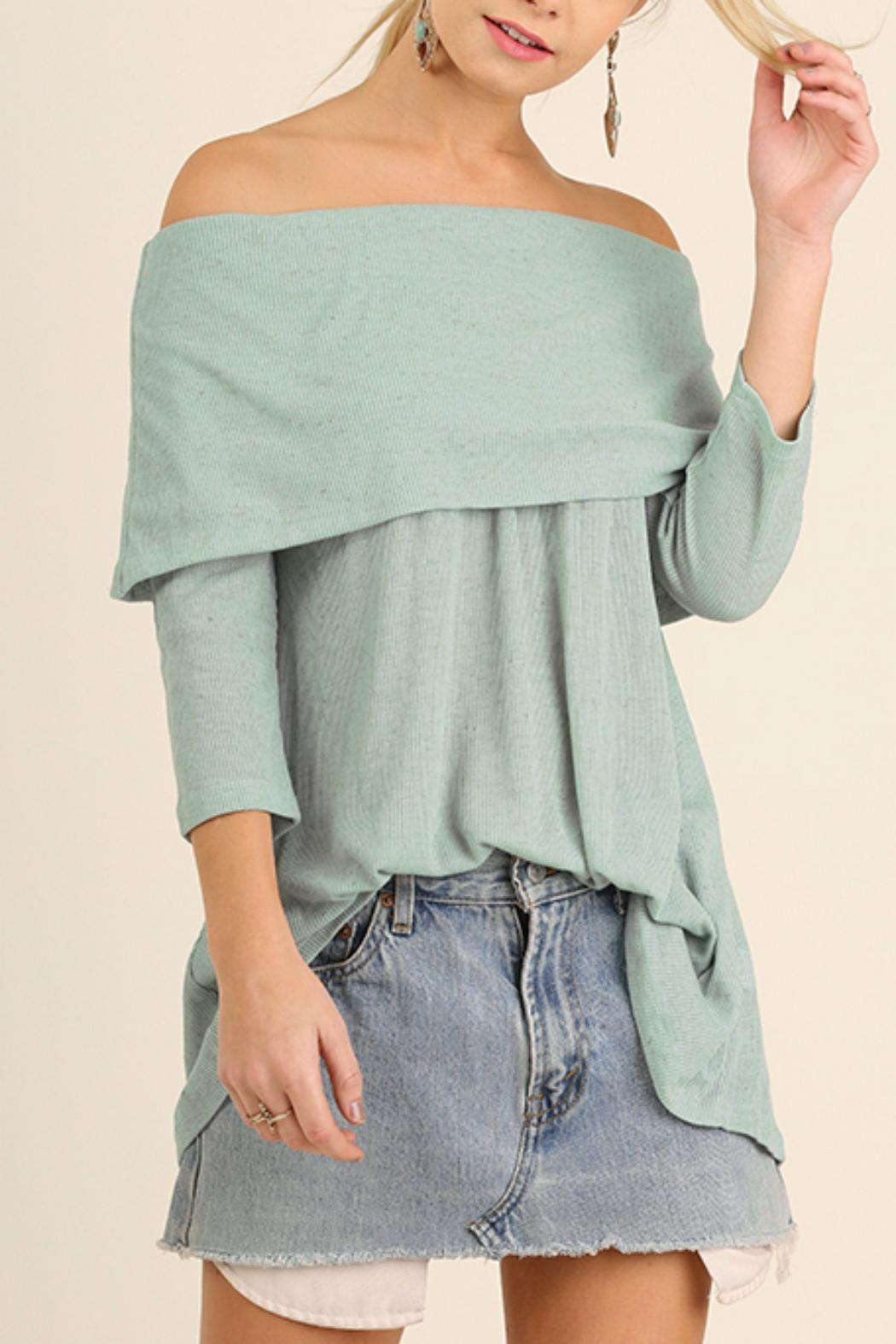 Umgee USA Off Shoulder Tunic - Front Cropped Image