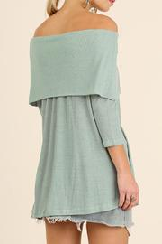 Umgee USA Off Shoulder Tunic - Front full body