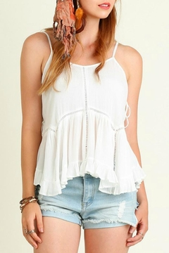 Shoptiques Product: Off White Babydoll Top
