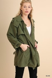 Umgee USA Olive Doublebreasted Jacket - Front cropped