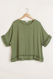 Umgee USA Olive Linen-Blend Top - Product Mini Image