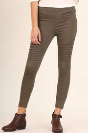 Umgee USA Olive Moto Jegging - Product Mini Image
