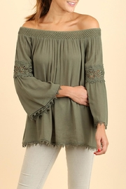 Umgee USA Olive Off Shoulder Top - Product Mini Image