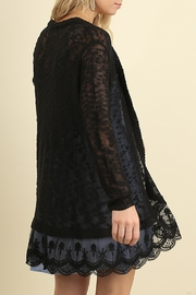 Umgee USA Open Front Cardigan - Front full body