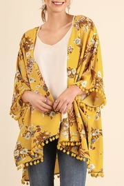Umgee USA Open Front Yellow Kimono - Product Mini Image