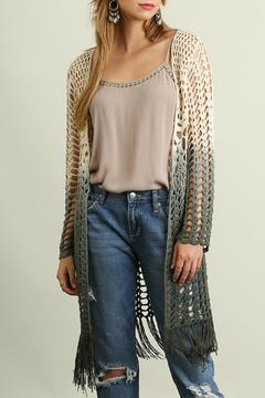 Shoptiques Product: Open Front Ombre Cardigan