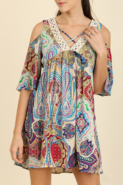 Umgee USA Open Shoulder Dress - Product Mini Image