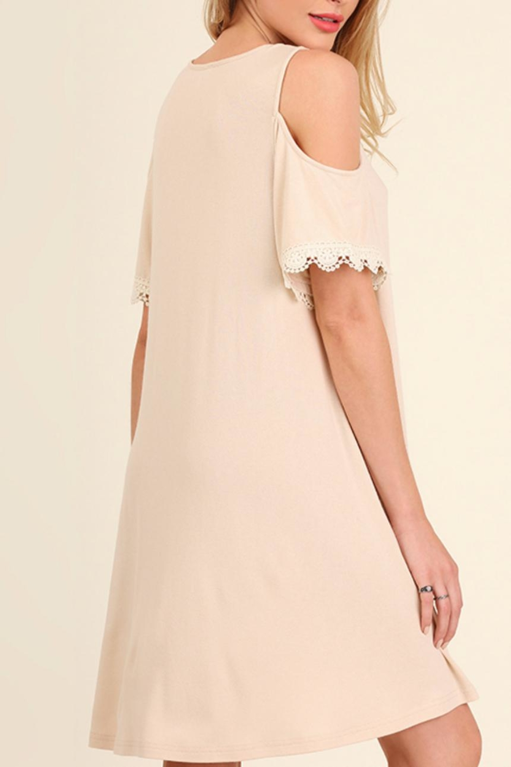 Umgee USA Open Shoulder Dress - Side Cropped Image