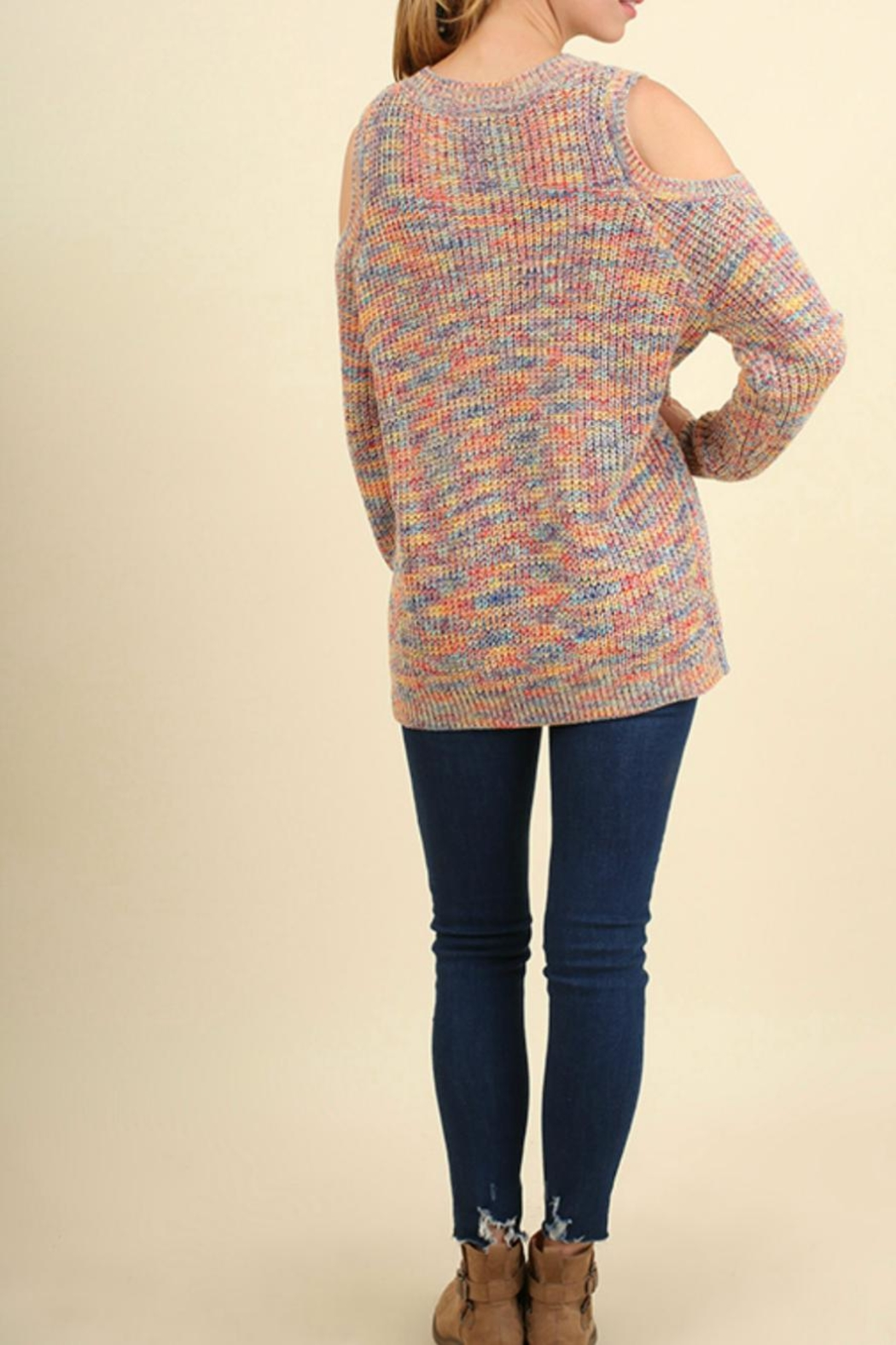 Umgee USA Open Shoulder Sweater - Side Cropped Image