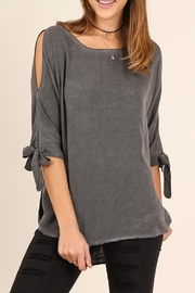 Umgee USA Open Shoulder Top - Product Mini Image