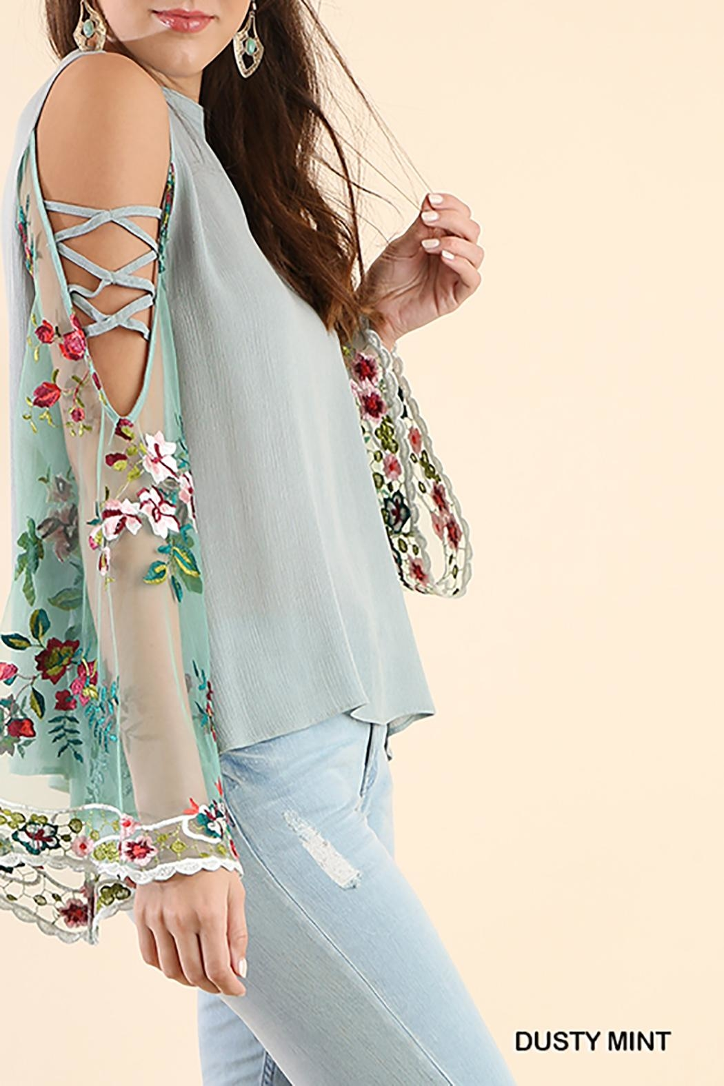Umgee USA Open Shoulder Top - Front Full Image