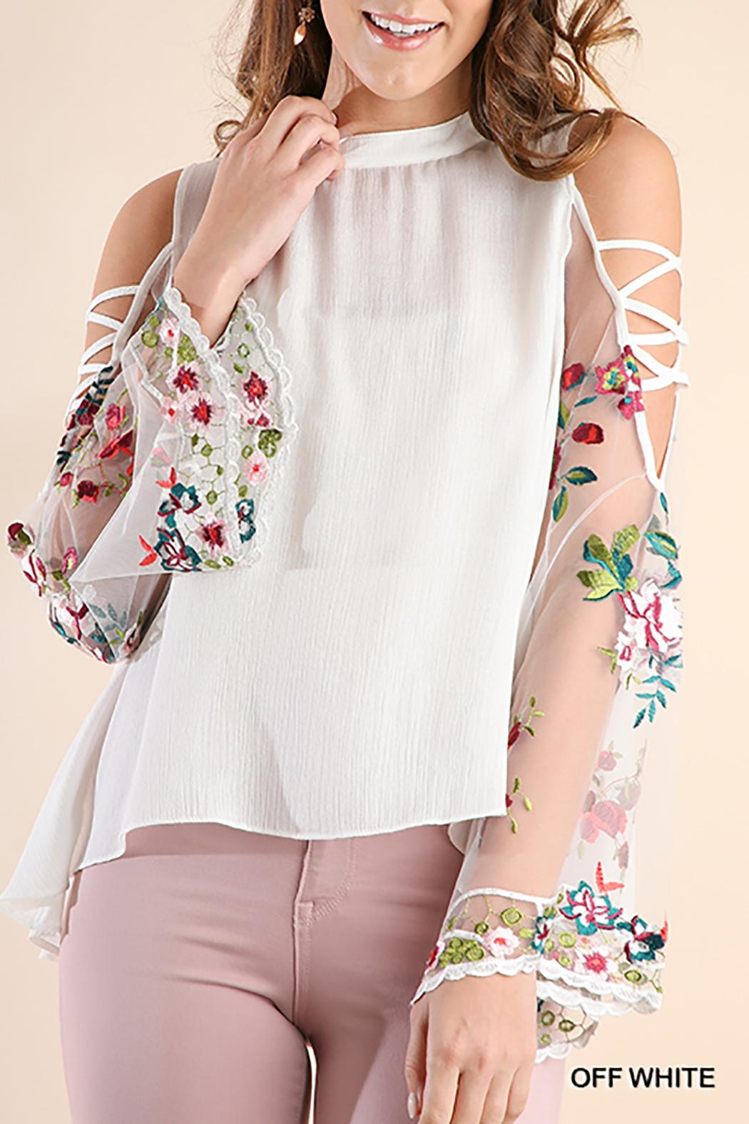 Umgee USA Open Shoulder Top - Front Cropped Image