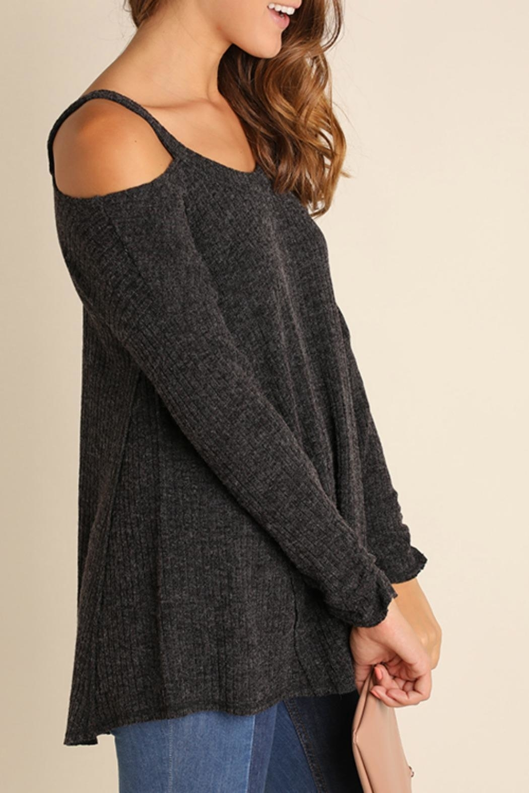 Umgee USA Open Shoulder Tunic Swearter - Side Cropped Image