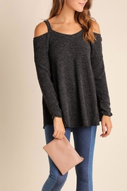 Umgee USA Open Shoulder Tunic Swearter - Front cropped