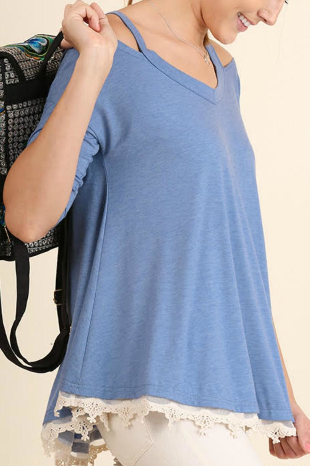 Umgee USA Open Shoulder Tunic - Front Full Image
