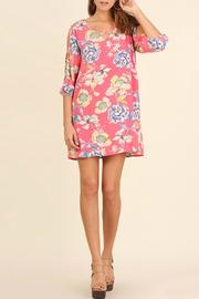 Umgee USA Floral Mini Dress - Product Mini Image