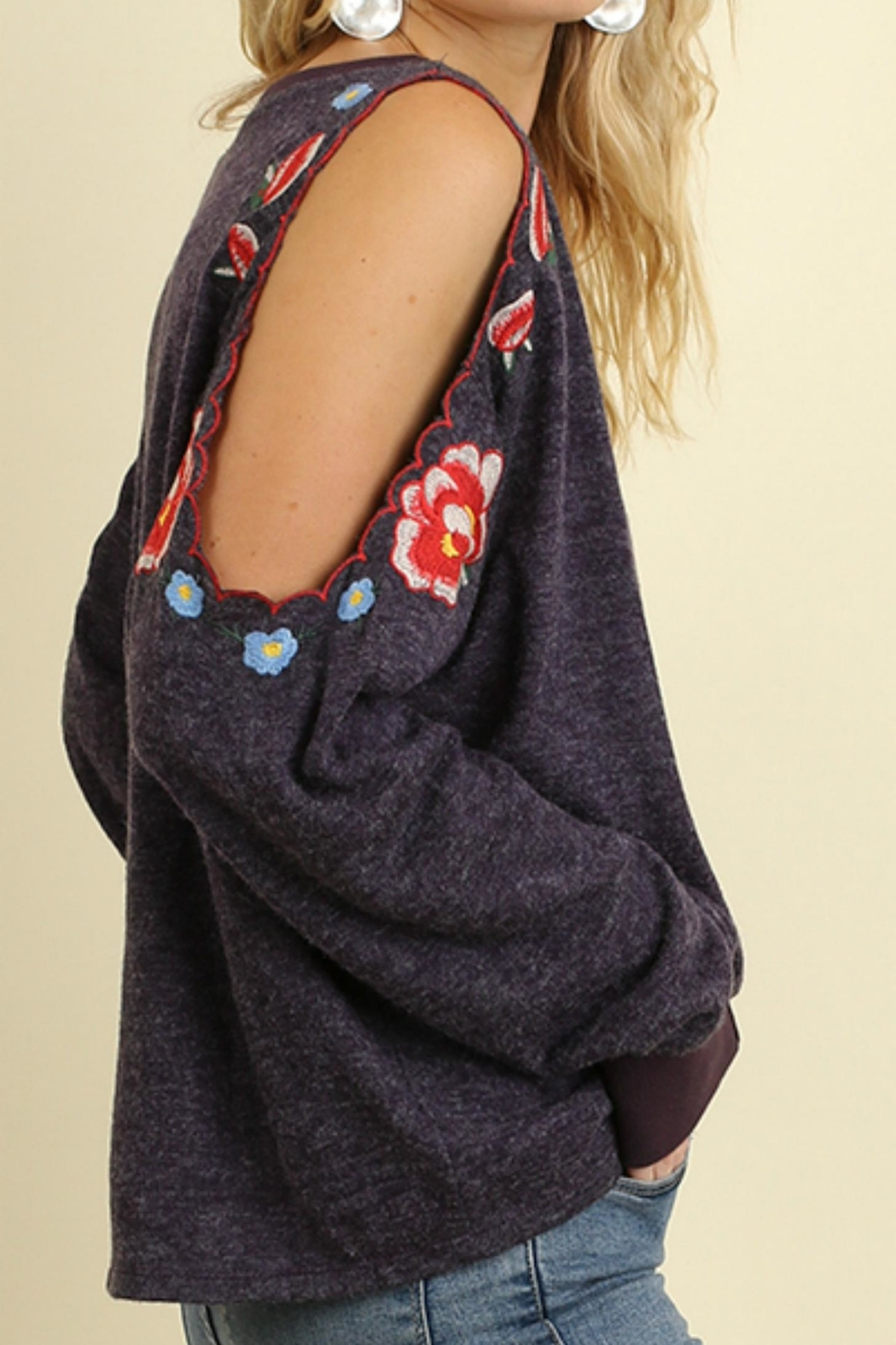 Umgee USA Open Sleeve Top - Front Full Image