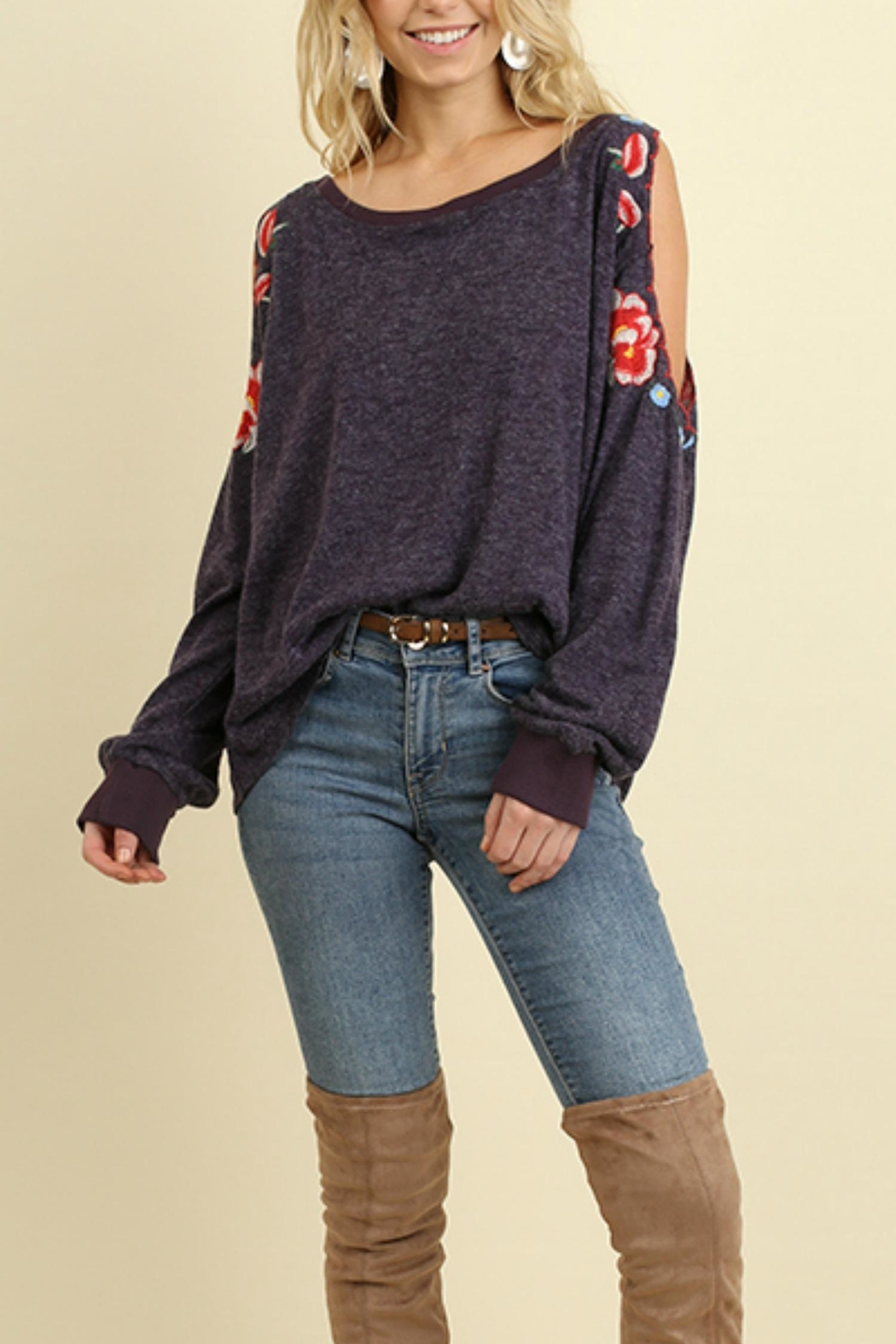Umgee USA Open Sleeve Top - Side Cropped Image