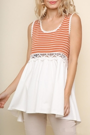 Umgee USA Orange White Top - Product Mini Image