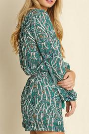 Umgee USA Paisley Green Romper - Front full body