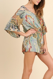 Umgee USA Paisley Green Romper - Product Mini Image