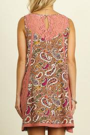 Umgee USA Paisley Print Dress - Front full body