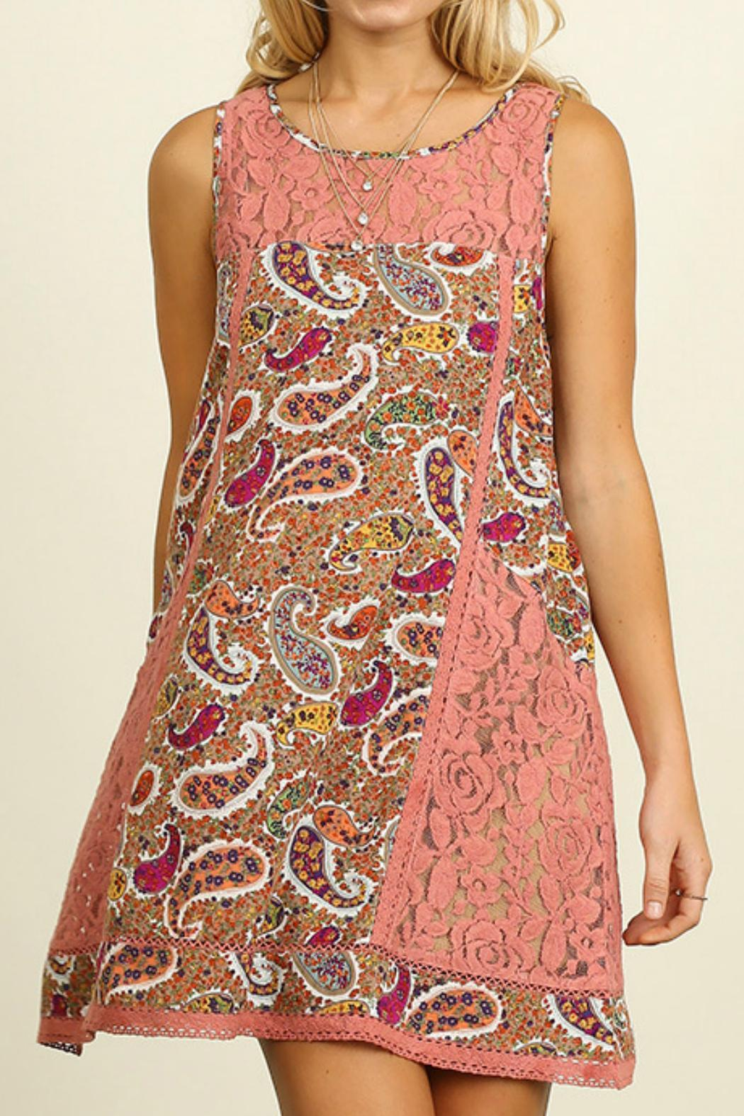 Umgee USA Paisley Print Dress - Main Image