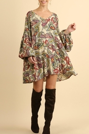 Umgee USA Paisley Puff Sleeve - Front cropped